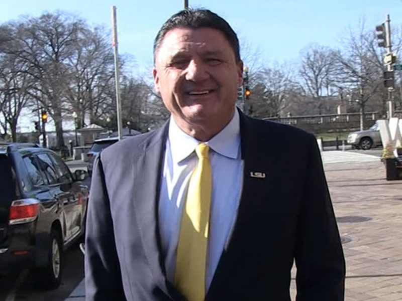 Ed Orgeron Says President Trump Was 'Gracious' Host, 'Everything Was A+'