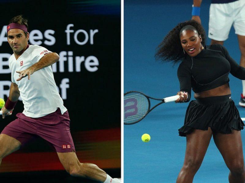 Serena Williams & Roger Federer Help Raise $5 MIL For Australia In Epic Tennis Event