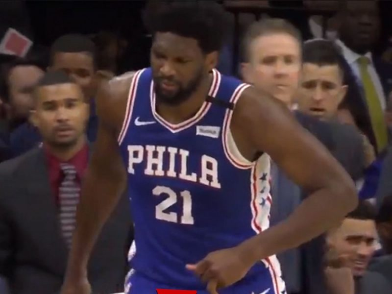 Joel Embiid Gruesomely Dislocates Finger, But Stays In Game!