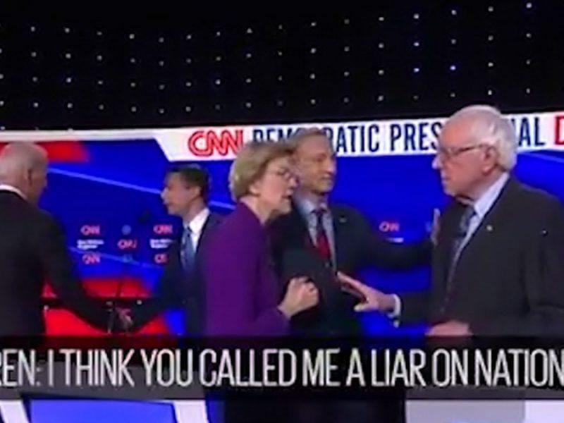 Elizabeth Warren Accuses Bernie Sanders of Calling Her a Liar After Debate