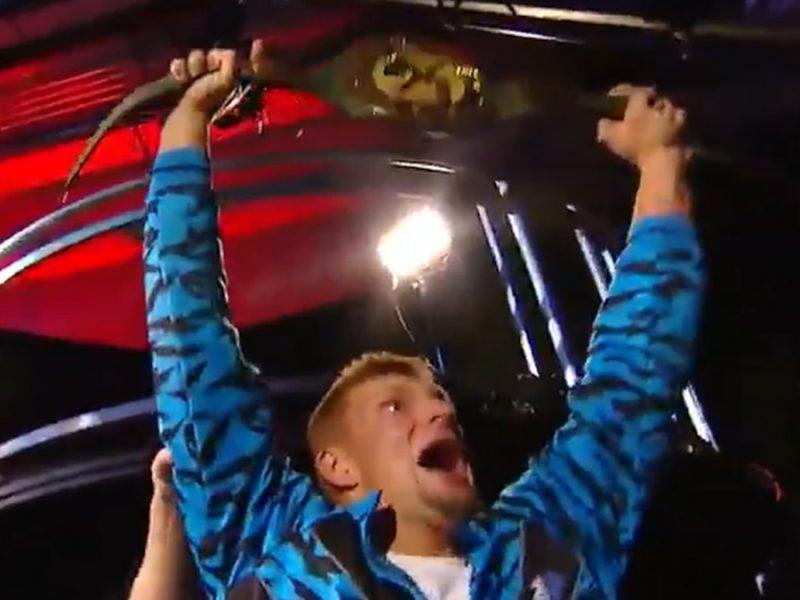 Rob Gronkowski Wins WWE Belt at WrestleMania, Pins BFF Mojo Rawley