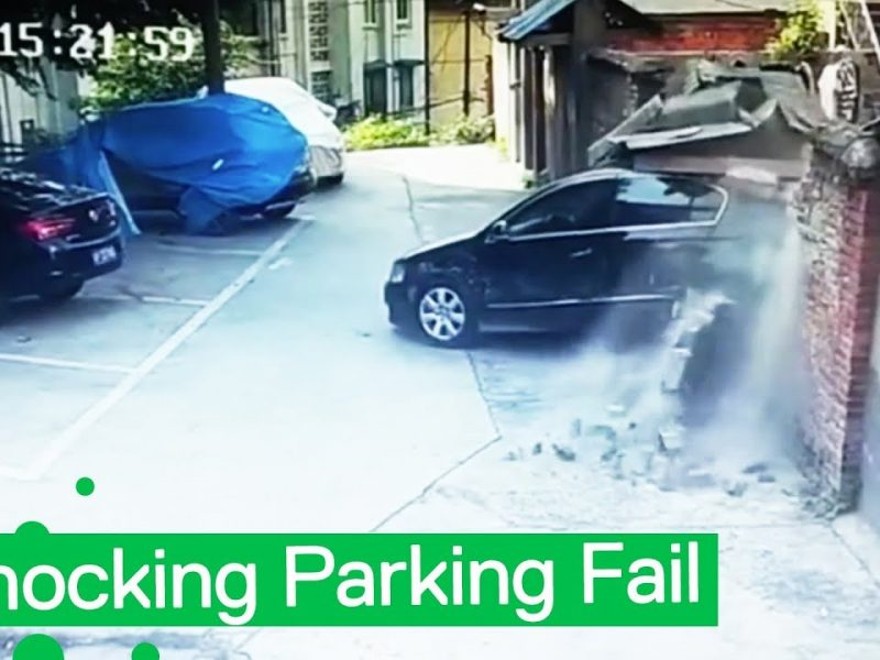 Hapless Driver Performs Crazy Parking Fail   How Not to Drive