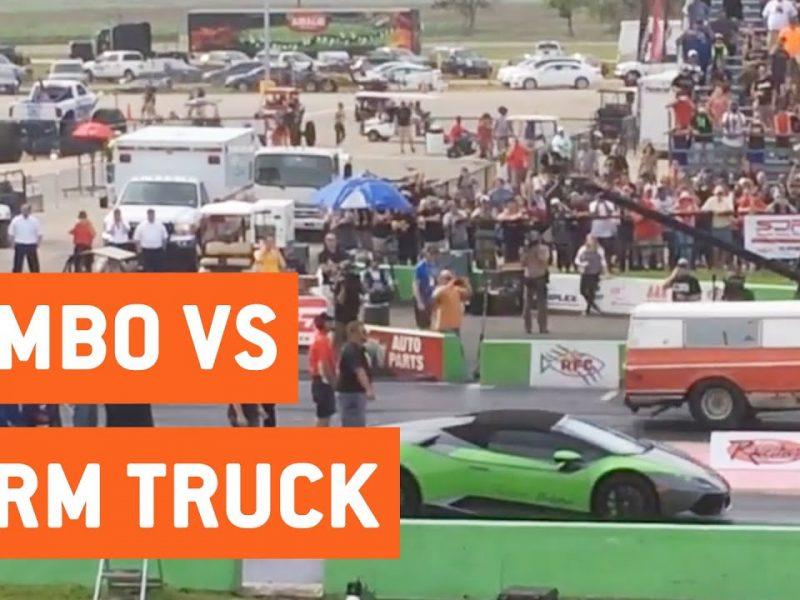 Lamborghini Races A Farm Truck   City vs Farm