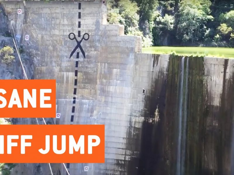Insane 120 ft. Cliff Jump   Oh Dam