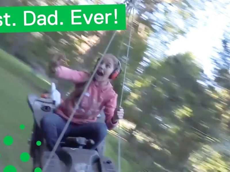 Best Dad Ever Builds Leaf Blower Ride for Kids
