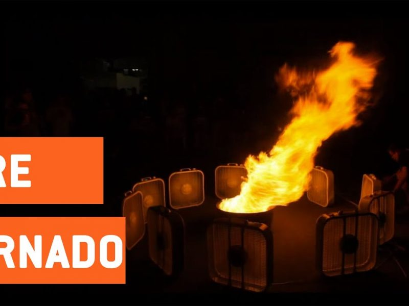 Fans Create Huge Fire Tornado