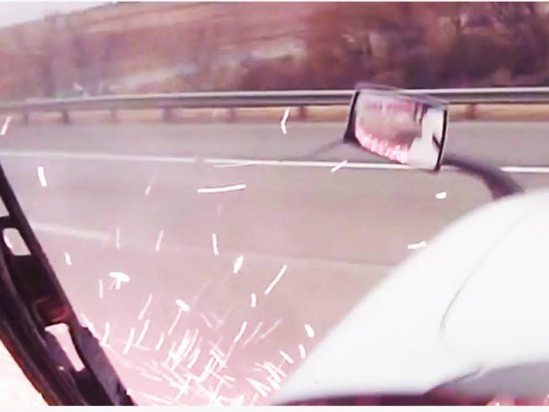 Insane Semi Truck Smash || Grinding the Divider
