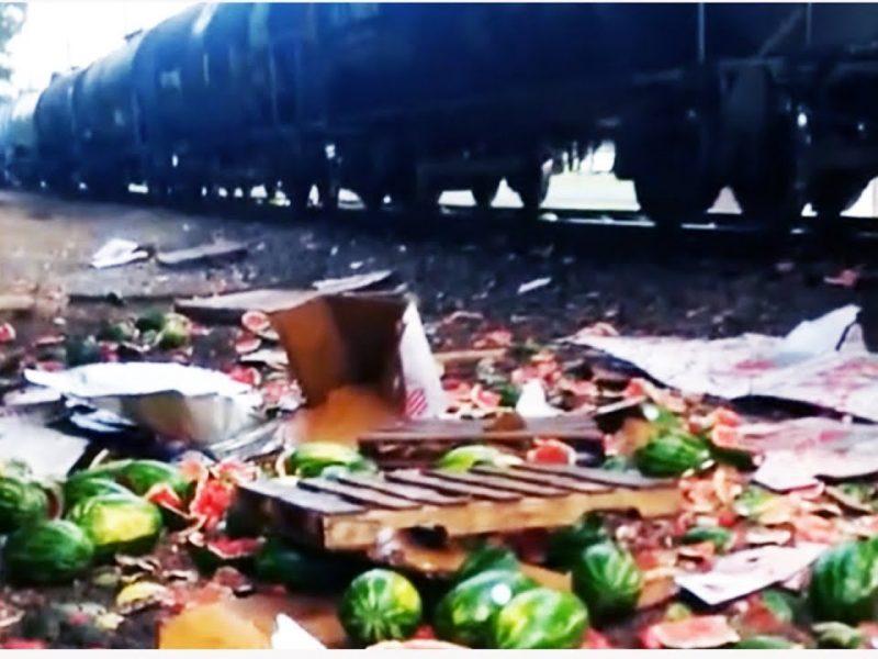 Train Destroys Watermelon Truck | Gallagher's Final Act