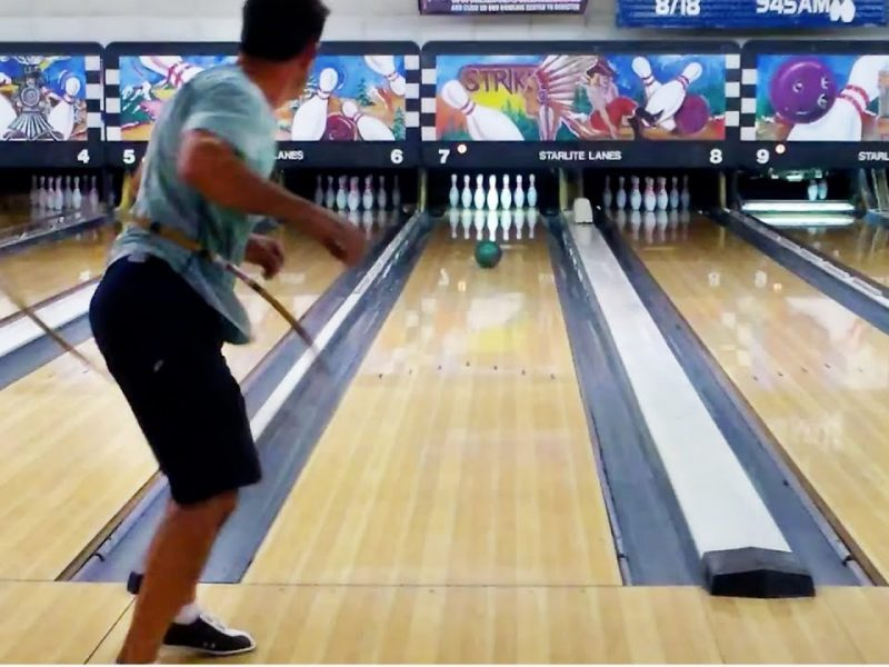 Hula Hooping While Bowling | All In The Hips #WIN