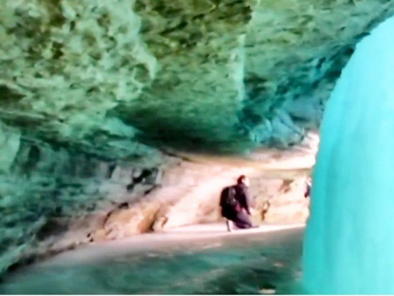 Secrets of a Frozen Waterfall   STUNNING Video Inside the Caves