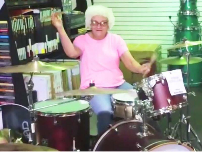 Grandma Drummer   Amazing Skills Like A Pro