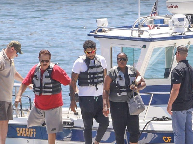 Naya Rivera's Mother, Brother Help Search Lake Piru in Emotional Visit