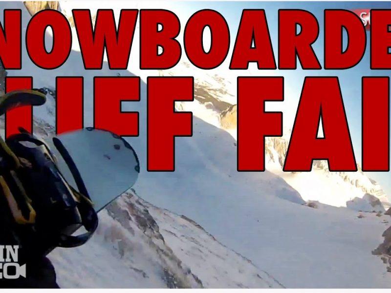 Epic POV | Snowboarder Falls Down Cliff