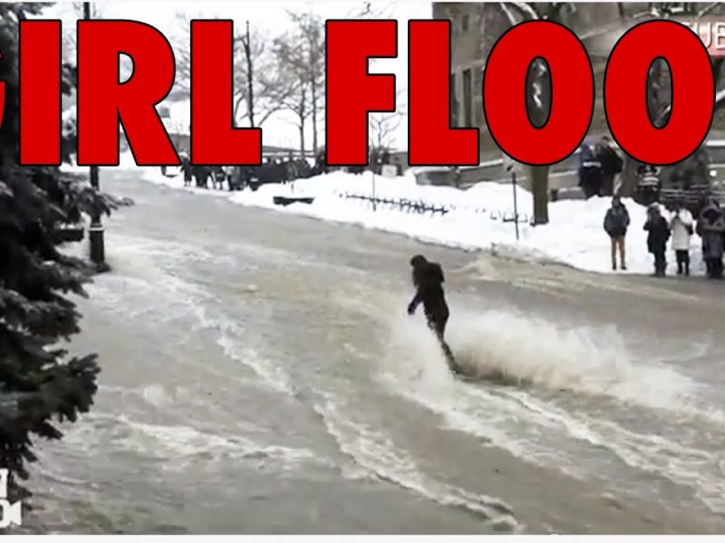 Girl Swept Away By Flood