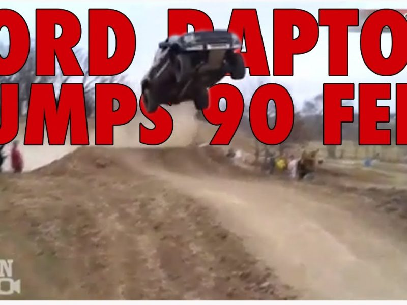 Ford Raptor Jumps 90 Feet