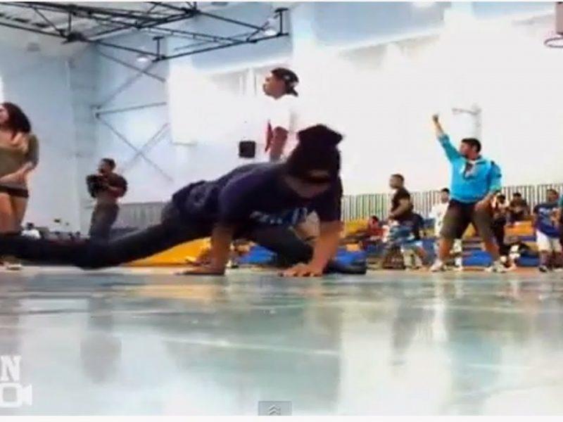 One-in-a-Million Breakdance Basketball Kick