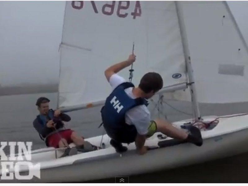 Sailboat Trapeze Mishap
