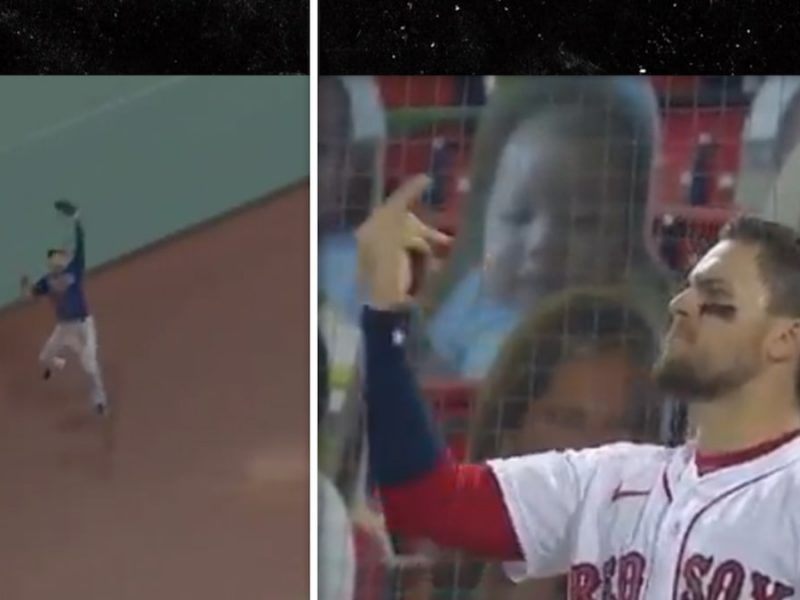 Red Sox's Michael Chavis Flips Off Rays' Kevin Kiermaier After Insane Catch