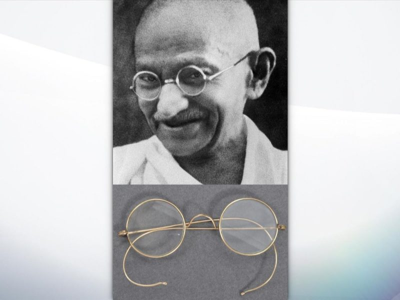 Gandhi's glasses found in auctioneer's letterbox after two days | UK News