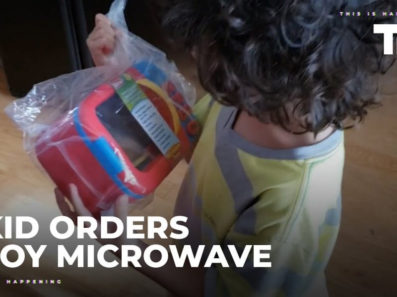 Kid Orders Toy Microwave Using Virtual Assistant on His Own