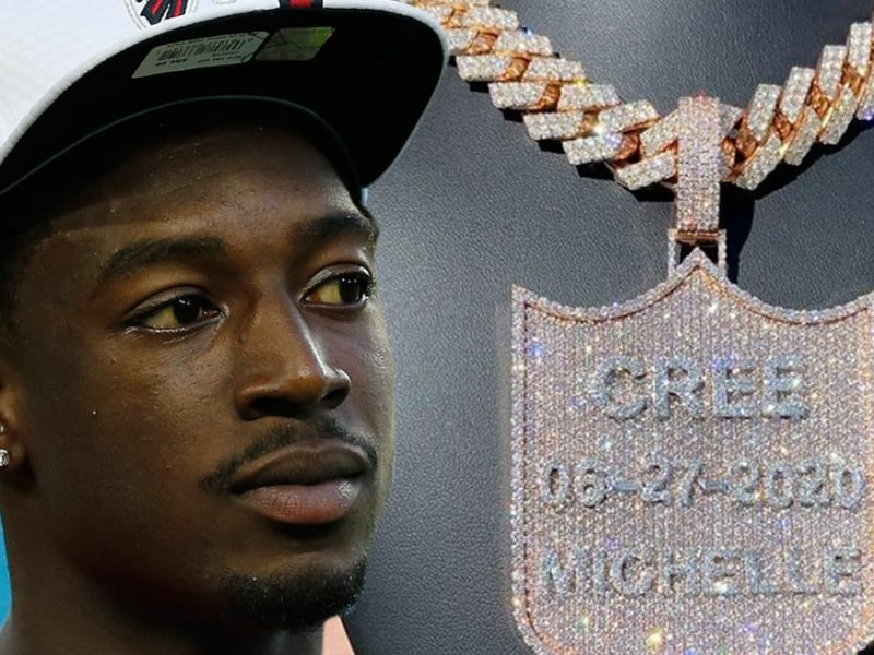 NFL's Calvin Ridley Honors Baby Daughter With Incredible Diamond Chain