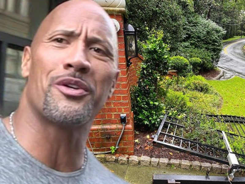 The Rock Goes Full 'Black Adam' On Gate During Power Outage, ROCK SMASH!