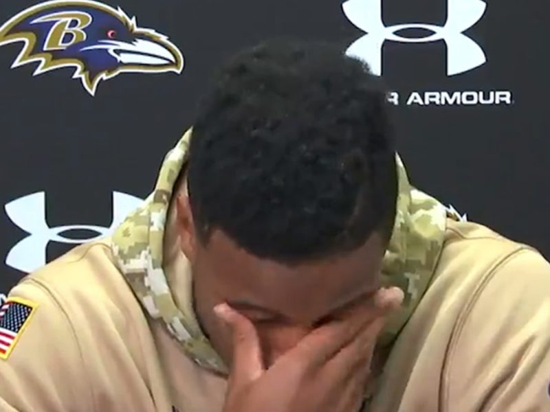 NFL's Marlon Humphrey Fights Back Tears, Praises Dad After $98 Mil. Extension